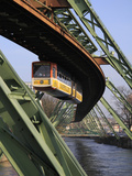 Overhead Railway over Th River Wupper  Wuppertal  North Rhine-Westphalia  Germany  Europe