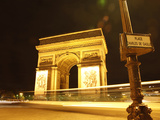 Arc De Triomphe and Place Charles De Gaulle at Night  Paris  France  Europe