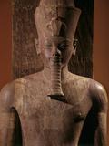 A Quartzite Lifesize Statue Amenhotep III As the God Atum