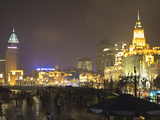 The Bund at Night  Shanghai  China  Asia