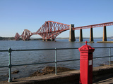 Forth Bridge over the Firth of Forth  South Queensferry  Scotland  United Kingdom  Europe