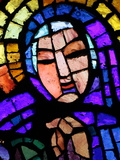 Stained Glass by Alexandre Cingria of the Virgin Mary  Notre-Dame Des Alpes Church  Le Fayet  Haute