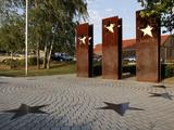 Monument for the Schengen Convention  Schengen  Mosel Valley  Luxembourg  Europe