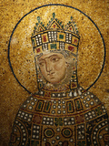 Mosaic of Empress Zoe  Hagia Sophia  Istanbul  Turkey  Europe