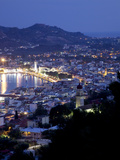 View of Town from Strani Hill at Dusk  Zakynthos Town  Zakynthos  Ionian Islands  Greek Islands  Gr