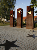 Monument for the Schengen Convention  Schengen  Mosel-Valley  Luxembourg  Europe