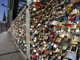 Padlocks on the Hohenzollern Bridge  Cologne  North Rhine Westphalia  Germany  Europe