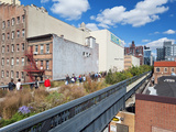 People Walking on the High Line  a One-Mile New York City Park  New York  United States of America 