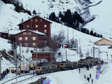 Station of Wengernalp of the Wengernalpbahn  Bernese Oberland  Wengen  Switzerland  Europe