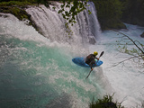 A Kayaker Running Spirit Falls  Little White Salmon River