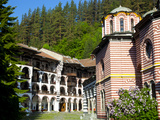 Courtyard  Dormitories and Church of the Nativity  Rila Monastery  UNESCO World Heritage Site  Nest