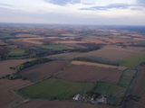 View over Essex Farmland from a Hot Air Balloon  Essex  England  United Kingdom  Europe
