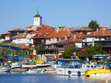 Tower of the Church of the Virgin Mary Above the Old Town and Harbour  Nessebar  Black Sea  Bulgari