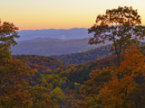 Autumn Scene in the Blue Ridge Mountains