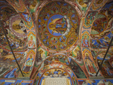 Arcade Murals Depicting Religious Figures and Scenes  Church of the Nativity  Rila Monastery  UNESC