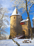 Castell Coch in Snow  Tongwynlais  Cardiff  South Wales  Wales  United Kingdom  Europe