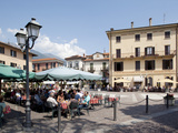Piazza and Cafe  Menaggio  Lake Como  Lombardy  Italy  Europe