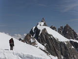 Aiguille Du Midi  View of the Mont Blanc Massif  Chamonix  Haute Savoie  French Alps  France  Europ