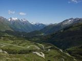 The Road to Splugen Pass  Canton Graubunden  Swiss Alps  Switzerland  Europe