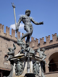 Fountain of Neptune  Piazza Del Nettuno  Bologna  Emilia Romagna  Italy  Europe