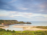 Three Cliffs Bay  Gower  South Wales  Wales  United Kingdom  Europe