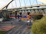 Overhead Railway  Wuppertal  North Rhine-Westphalia  Germany  Europe