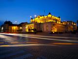 Floodlit National Assembly Building  Ploshtad National Assembly Square  Sofia  Bulgaria  Europe