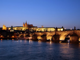 Charles Bridge over the River Vltava  Charles Bridge  UNESCO World Heritage Site  Prague  Czech Rep