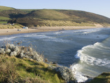 The Beach with Surfers at Woolacombe  Devon  England  United Kingdom  Europe