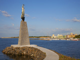 Statue of St Nicholas in South Nessebar Bay  Nessebar  Bulgaria  Black Sea  Europe