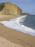 Golden Cliff and Beach at West Bay Near Bridport  Dorset  Jurassic Coast  UNESCO World Heritage Sit