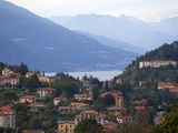 Town of Bellagio and Mountains  Lake Como  Lombardy  Italian Lakes  Italy  Europe