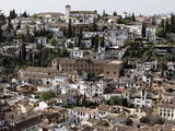 Albaicin Seen from Alhambra  Granada  Andalucia  Spain  Europe