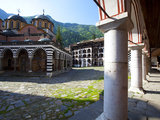 Courtyard and Church of the Nativity  Rila Monastery  UNESCO World Heritage Site  Nestled in the Ri