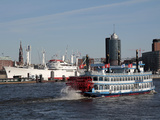 Tourist Paddlesteamer on the River Elbe  Hamburg  Germany  Europe