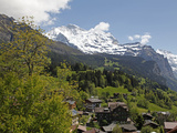 Wengen and Jungfrau  Bernese Alps  Bernese Oberland  Swiss Alps  Switzerland  Europe