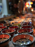Traditional Turkish Bowls on Sale at a Street Stall in the Old City of Antayla  Anatolia  Turkey  A