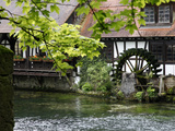 Mill at Blautopf  Blaubeuren  Swabian Mountains  Baden-Wurttemberg  Germany  Europe