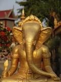 Ganesh Statue in Wat Deydos  Kompong Cham  Cambodia  Indochina  Southeast Asia