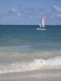 Catamaran  Bavaro Beach  Punta Cana  Dominican Republic  West Indies  Caribbean  Central America