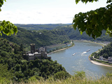 St Goarshausen  Katz Castle and the River Rhine  Rhine Valley  Rhineland-Palatinate  Germany  Euro