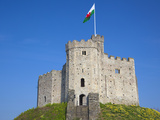 Norman Keep  Cardiff Castle  Cardiff  South Wales  Wales  United Kingdom  Europe