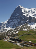 Kleine Scheidegg and Eiger Near Grindelwald  Bernese Oberland  Swiss Alps  Switzerland  Europe