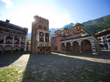 Courtyard  Church of the Nativity and Hrelyo&#39;s Tower  Rila Monastery  UNESCO World Heritage Site  N