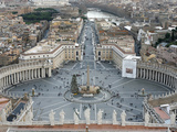 St Peter&#39;s Square  Vatican  Rome  Lazio  Italy  Europe
