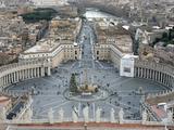 St Peter's Square  Vatican  Rome  Lazio  Italy  Europe
