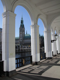 Alsterarkaden and City Hall  Hamburg  Germany  Europe