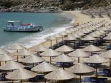 Paradise Beach  Mykonos  Cyclades Islands  Greek Islands  Greece  Europe