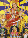 Picture of Hindu Goddess Durga  India  Asia