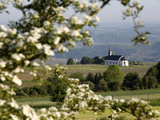 Spring Landscape with Little Church Near Nittel  Mosel-Valley  Rhineland-Palatinate  Germany  Europ